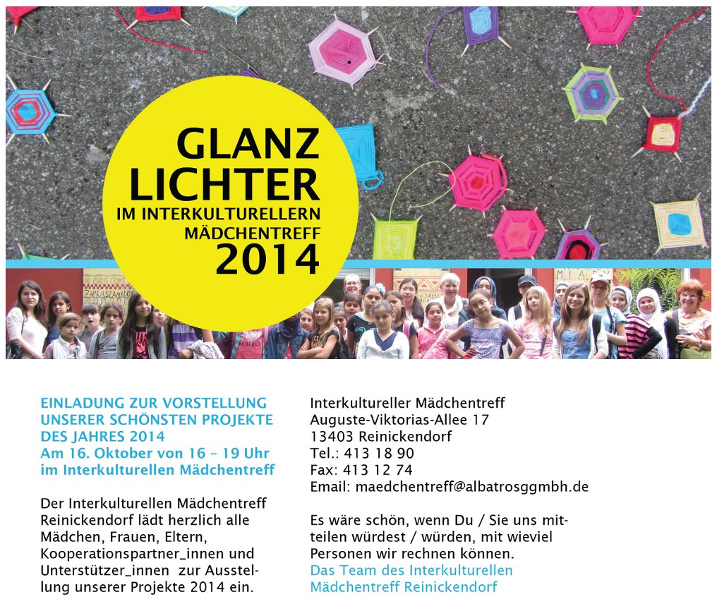 Einladung Glanzlichter 2014